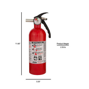 Kidde 5 b c Rated Disposable Fire Extinguisher Non rechargeable 6 Ft Discharge