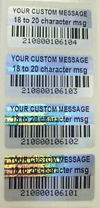 Bcc 100 To 1000 Custom Barcode Product Protection Security Hologram Stickers