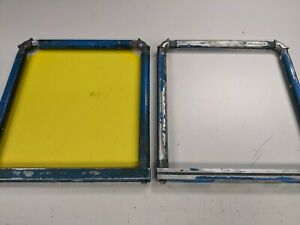 Two Newman Mzx Roller Screen Print Frames With Square Bar 21 X 23 Manual Press