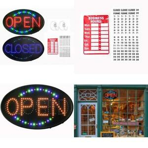 Gpc Inc Large Jumbo Size Led Open Closed Sign With Business Hours Sign Ultra