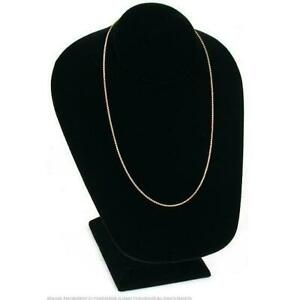 Necklace Chain Bust Black Velvet Jewelry Case Display