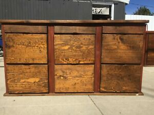 Vintage Style Genuine Wooden Filing Cabinet 9 Drawer 21 x30 x37