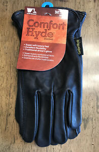 Wells Lamont Comfort Hide Leather Gloves Sz M Brand New