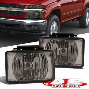 Smoked Bumper Fog Lights Driving Lamps For 2004 2012 Chevy Colorado Gmc Canyon