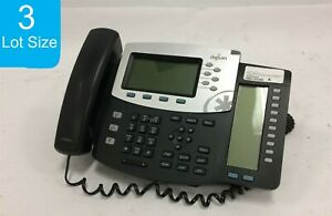 Lot Of 3 Digium D70 1teld070lf Ip Phone W Handset Stand