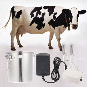 Stainless Steel Portable 5kg Electric Milking Machine For Cow Goat Sheep