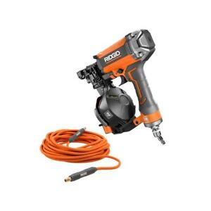 Ridgid 15 degree 1 3 4 In Coil Roofing Nailer With 1 4 In 50 Ft Lay Flat Air