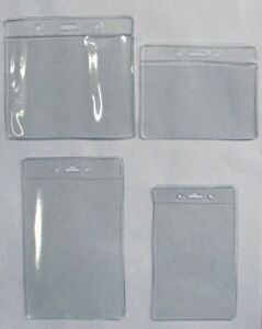 30 Clear Badge Id Holder Horizontal or Vertical 4 Sizes Available U pick Mix