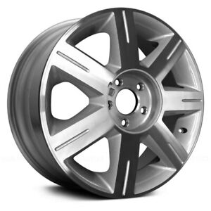 For Cadillac Dts 06 08 Alloy Factory Wheel 7 Spoke Machined Silver 17x7 Alloy