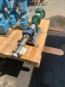 Seepex Pump With Reliance 1 2hp Motor