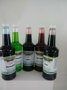 New Hawaiian Shaved Ice 5 Pack 1 Quarts 946 Ml Of Ready To Use Syrup 10 10 2020