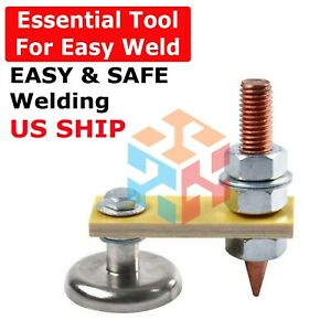 Welding Magnet Head Magnetic Welding Support Ground Clamp Holder Adjustable Us