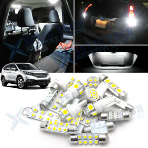White Led Interior Package Reverse License Lights Kit For Honda Cr v 2007 2012
