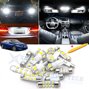 White Led Interior Reverse Lights Package Kit For Honda Accord Sedan 2003 2012