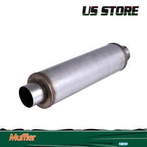 4 Inlet Outlet Stainless Steel Performance Muffler 24 Body Length Exhaust