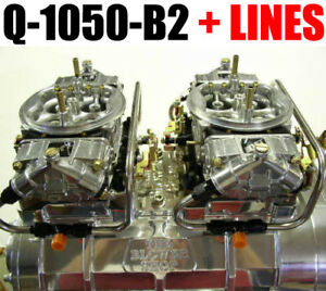 Quick Fuel Q 1050 b2 1050 Cfm Blower Supercharger Carbs Black With Fuel Lines