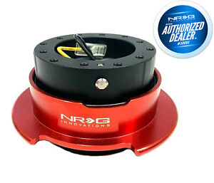 Nrg Ball Lock Steering Wheel Quick Release 2 5 Gen Black Body With Red Ring