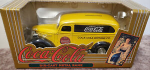 Coca-Cola 50th Anniversary Yellow Chevrolet Diecast Panel Truck Coin Bank