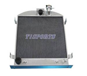 3 Row Aluminum Radiator For 1932 Ford Model T Chopped Ford Engine 17 X 17 Core