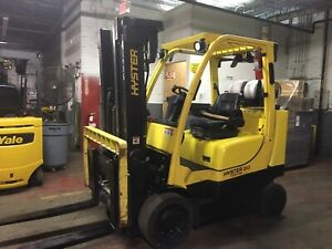 2015 Hyster 8000 Lb Forklift Boxcar With Side Shift And Triple Mast