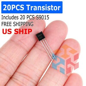 20 Pcs X S9015 To 92 Transistor Electronic Chip Triode Three Pins Pack Set Lot