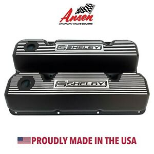 Ford 351 Cleveland Valve Covers Black Carroll Shelby black Logo Ansen Usa