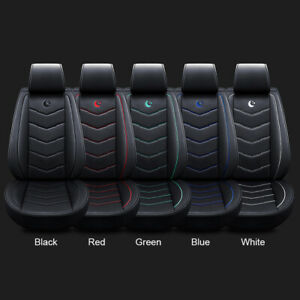 Universal Auto Car Suv Standard 5 Seat Pu Leather Seat Covers Cushion Front Rear