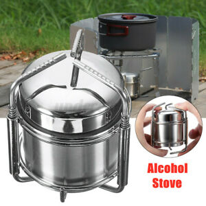 Outdoor Portable Picnic Liquid Burner Alcohol Stove Camping Cooking W Bag
