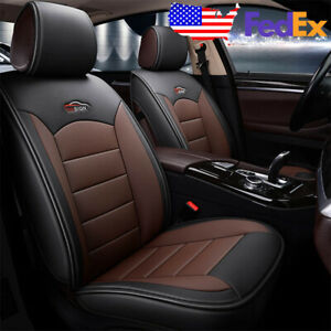 Us Durable Car 5 Seat Pu Leather Seat Covers Front Rear For Honda Accord Civic