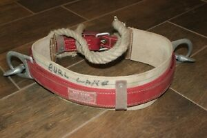 Used Sky Genie Lineman s Pole Climbing Belt Harness Descent Control Inc Sturdy