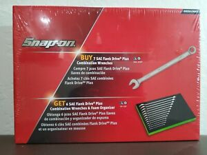 Snap On Tools 13 Piece Sae Flank Drive Plus Combination Wrench Set W Foam Tray