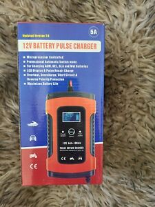 12v Pulse Repair Battery Charger For Car Motorcycle Agm Gel Wet Lead Acid Lcd