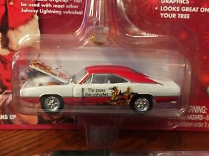Coca Cola Johnny Lightning 1969 DODGE CHARGERHoliday Ornament New Collectible!