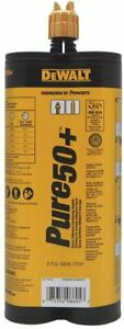 Dewalt Pure50 Epoxy Injection Adhesive Anchoring System 21 Oz 08605 pwr