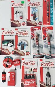Lot Of Coca Cola Magnets And Writing Pens