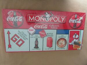 1999 Vintage Coca Cola Monopoly Collector's Edition - SEALED with Pewter Tokens