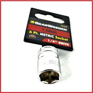New Gearwrench 1 4 Drive 6 Point Metric Socket 13 Mm 80135d Free Shipping