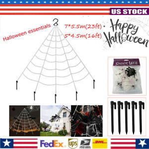 Halloween Outdoor Yard Decor 16 23ft Giant Spider Web Set