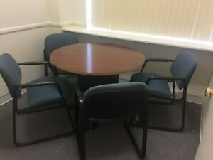 Conference Table And Four Chairs Gently Used