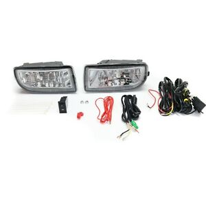 Set Of 2 Clear Lens Fog Light For 98 07 Toyota Land Cruiser Lh Rh