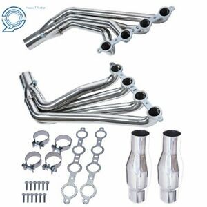 For 10 15 Camaro Ss Ls3 6 2l V8 Long Tube Stainless Header Exhaust Manifold New