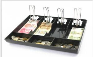 4 Bill 3 Coin Cash Register Drawer Box Works Insert Tray Replacement Cashier Usa