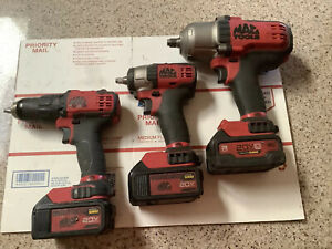 Mac Tools Cordless Bwp151 mcf891 bdp050 Impact And Drill With Batteries charger