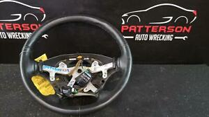 2002 Dodge Ram 1500 Black Leather Wrapped Steering Wheel W o Accessory Controls