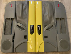 98 10 Vw Beetle Oem Door Panels Pair Driver Passenger Gray yellow Coupe Lh Rh