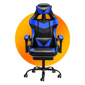 High Back Office Computer Gaming Chair Racing Recliner Swivel Desk Sport Chairs