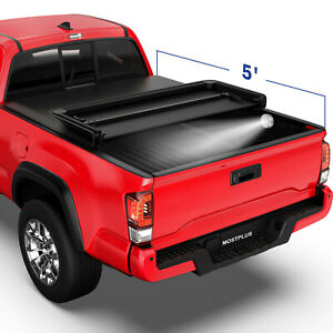 5ft 3 Fold Soft Truck Bed Tonneau Cover Waterproof For 2005 2015 Toyota Tacoma