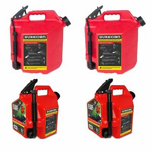 Surecan 5 Gallon Gas Can 2 Pack 2 2 Gallon Gas Can 2 Pack