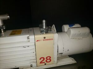 Edwards E2m28 Dual Stage Rotary Vane Mechanical Vacuum Pump 220v 1ph