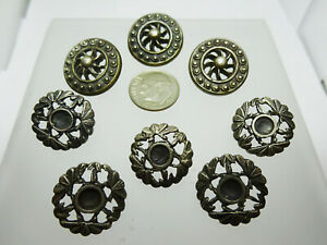 Vintage 925 Sterling Silver Buttons Antique Lot Of 8 Buttons 34 Grams 2 Sets